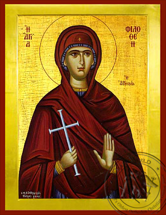 Saint Philothea of Athens - Byzantine Icon