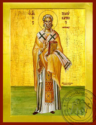 Saint Polykarpos of Smyrne - Byzantine Icon