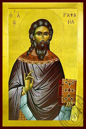 Saint Raphael, the New Martyr of Mitylene, Greece - Byzantine Icon