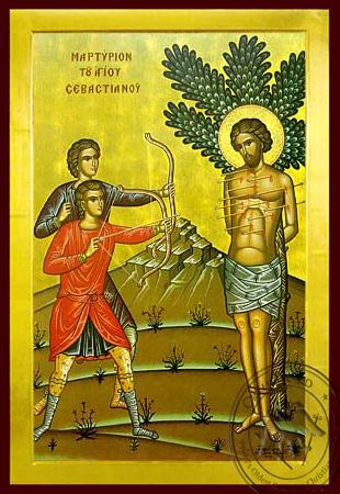 Saint Sevastianos the Martyrdom - Byzantine Icon