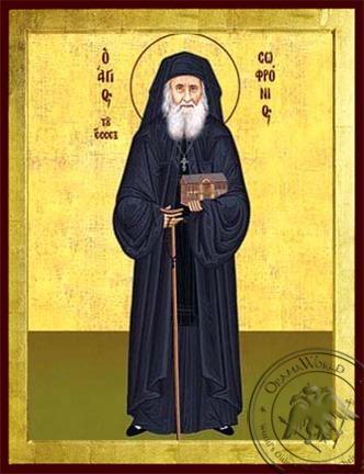 Saint Sofronios Sacharof of Essex Full Body - Byzantine Icon