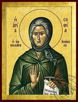 Saint Sophia Ascetic of Kleisoura Greece - Byzantine Icon