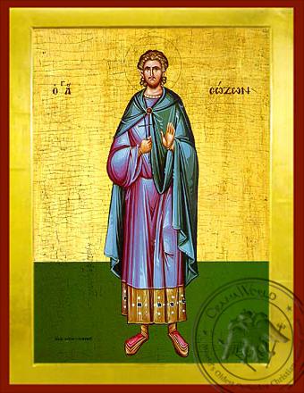 Saint Sozon - Byzantine Icon