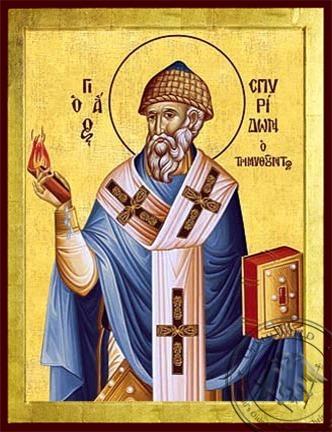 Saint Spyridon Bishop of Tremithon Cyprus - Byzantine Icon