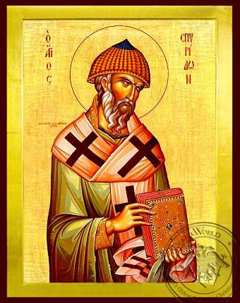 Saint Spyridon, Bishop of Tremithon, Cyprus - Byzantine Icon