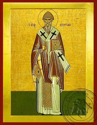 Saint Spyridon, Bishop of Tremithon, Cyprus, Full Body - Byzantine Icon