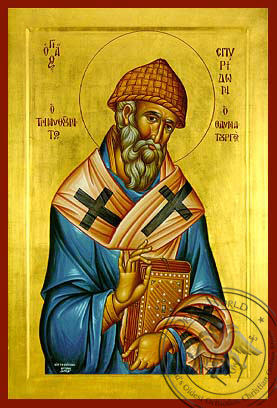 Saint Spyridon - Byzantine Icon