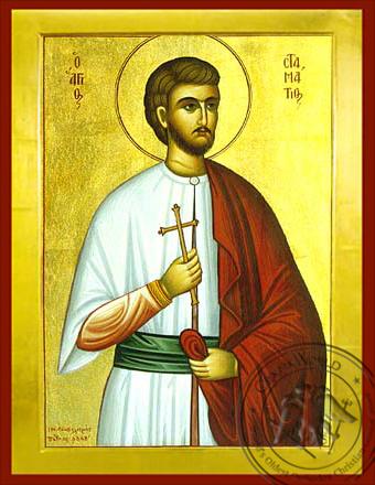 Saint Stamatios - Byzantine Icon