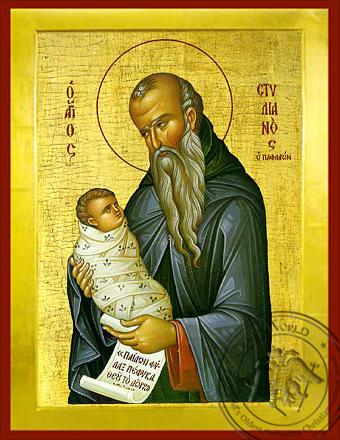 Saint Stylianos - Byzantine Icon