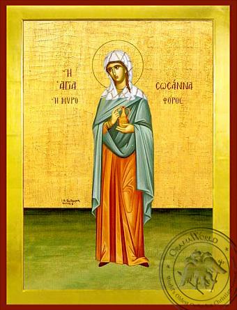 Saint Susanne, the Myrrh Bearer, Full Body - Byzantine Icon