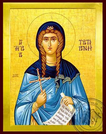 Saint Tatiana, Martyr, of Rome - Byzantine Icon