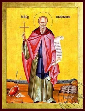 Saint Telemachus the Monk Full Body - Byzantine Icon