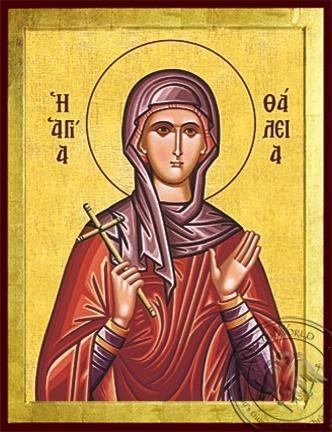 Saint Thalia Virgin-Martyr - Byzantine Icon