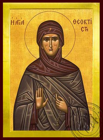 Saint Theoctiste, of Lesbos, Greece - Byzantine Icon