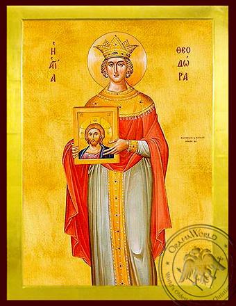 Saint Theodora, the Emperess of byzantium - Byzantine Icon