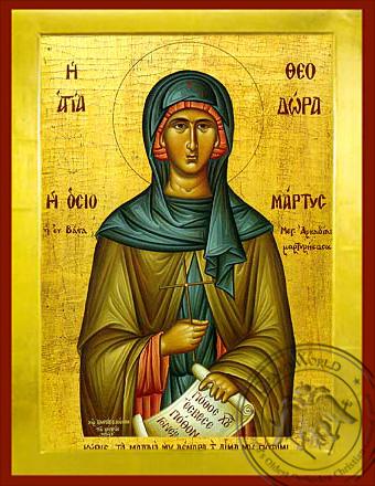 Saint Theodora of Vasta - Byzantine Icon