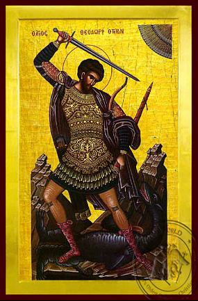 Saint Theodore the Great Martyr, Tyro, Full Body - Byzantine Icon