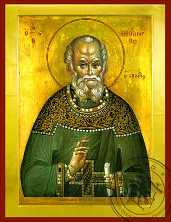 Saint Theodore the Confessor, Abbot of the Studion - Byzantine Icon