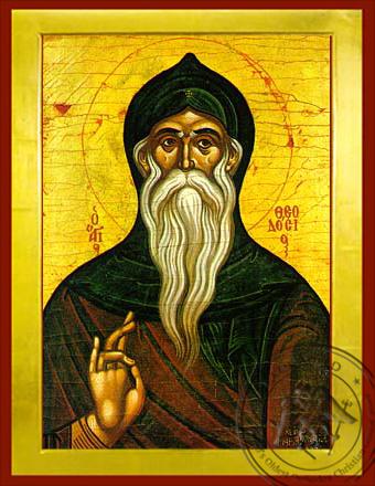 Saint Theodosius, the Cenobiarch - Byzantine Icon