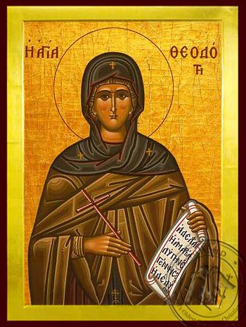 Saint Theodota, Martyr, in Ancyra - Byzantine Icon