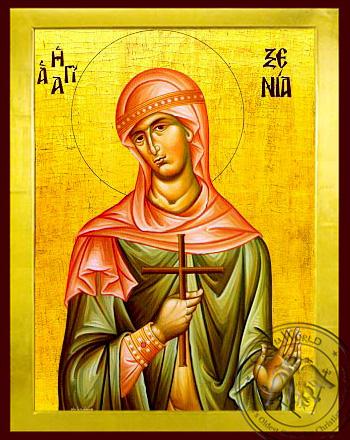 Saint Xenia - Byzantine Icon