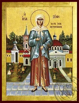 Saint Xenia of Saint Petersburg Fool For Christ Full Body - Byzantine Icon