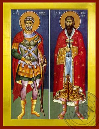 Saints Menas and Eustratios - Byzantine Icon