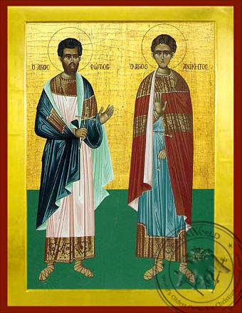 Saints Photius and Anicetus of Nicomedia, Full Body - Byzantine Icon