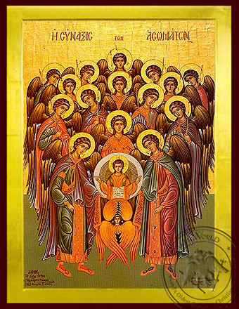 Synaxis of the Holy Archangels, Full Body - Byzantine Icon