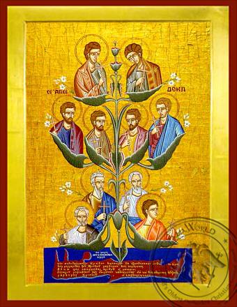 Ten Saints of Crete, Greece - Byzantine Icon
