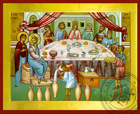 The Marriage Feast at Canaa - Byzantine Icon
