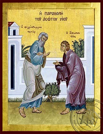The Parable of the Prodigal Son - Byzantine Icon
