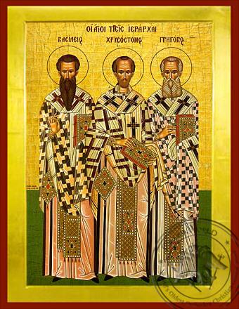 Three Holy Hierarchs - Byzantine Icon