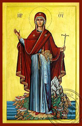 Panagia Prioress of Mount Athos - Byzantine Icon