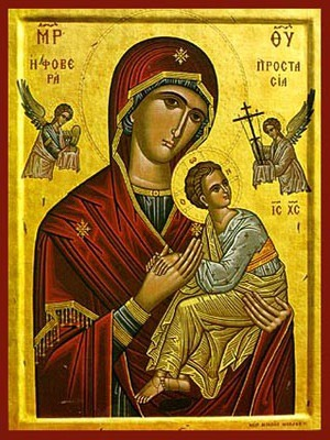 Virgin and Child Formidable Protection - Byzantine Icon
