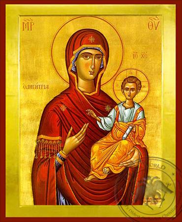 Virgin and Child, Hodegetria - Byzantine Icon