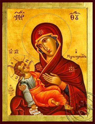 Virgin and Child Megaspelaeotissa (Great Cave) - Byzantine Icon