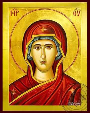 Panagia (Detail) - Byzantine Icon
