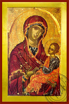 Panagia Joy of those who Grieve - Byzantine Icon
