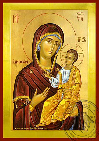 Virgin and Child, Hodegetria, Gregorousa - Byzantine Icon