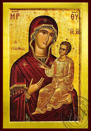 Panagia Giatrissa - Byzantine Icon