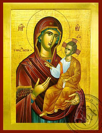 Panagia :The Hope of All the Faithfull - Byzantine Icon