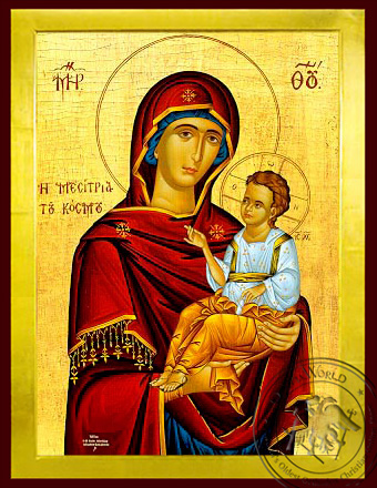 Virgin and Child, Hodegetria, Mediator of the World - Byzantine Icon