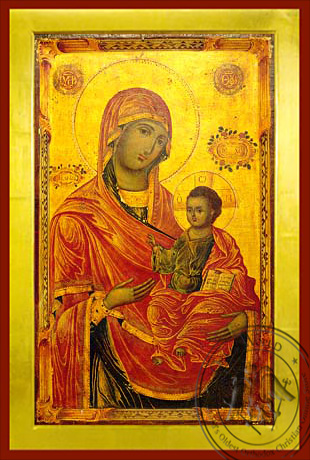 Virgin and Child, Hodegetria, Merciful - Byzantine Icon