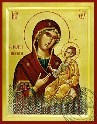Panagia The Myrtidiotissa - Byzantine Icon