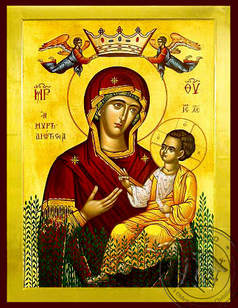 Virgin and Child, Hodegetria, of the Myrtle Tree - Byzantine Icon