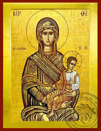 Panagia Skepe - Byzantine Icon
