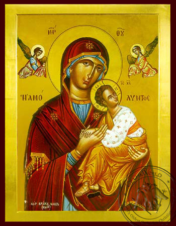 Virgin and Child, Immaculate - Byzantine Icon