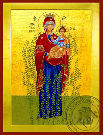 Virgin and Child, of the Myrtle Tree, Full Body - Byzantine Icon