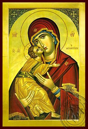 Panagia The Glykophilousa  Dexiokratousa - Byzantine Icon